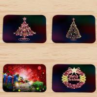 Flannel Absorbent Floor Mat christmas design & anti-skidding printed PC