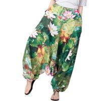 Katoen Wijde broek met brede benen Afgedrukt verschillende kleur en patroon naar keuze : stuk
