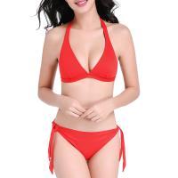 Nylon Bikini Solid red Sold By Set