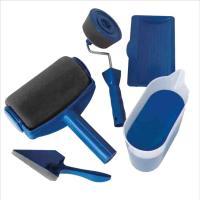Flocking Fabric & Steel Multifunction Pintar Brush Set blue Sold By Set