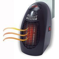 Kunststoff Mini Warmluftmaschine,  Kunststoff, Schwarz,  Stück