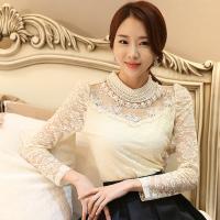 Acetaatvezel & Spandex Vrouwen lange mouwen blouses Kant Lappendeken Bloemen meer kleuren naar keuze stuk