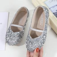 Tendón de ternera & cuero sintético La muchacha embroma los zapatos, Sólido, más colores para elegir,  Par