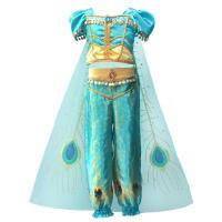 Polyester Kinder Halloween Cosplay Kostüm, Cape & Hosen & Nach oben, himmelblau,  Stück