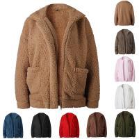 Poliéster Abrigo de mujer, teñido de manera simple, Sólido, más colores para elegir,  trozo
