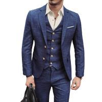 Spandex Männer Anzug,  Polyester, Weste & Hosen & Mantel, Patchwork, Plaid, mehr Farben zur Auswahl,  Festgelegt