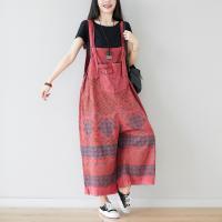 Coton Pantalon femme bretelle Imprimé plus de couleurs pour le choix : pièce