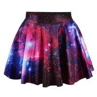 Spandex & Poliéster Falda, impreso, patrón de cielo estrellado, más colores para elegir, :,  trozo