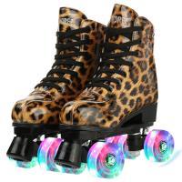 PU-leer Rolschaatsen PU-rubber Afgedrukt Leopard meer kleuren naar keuze Paar