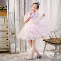 Polyester Mädchen einteiliges Kleid, Rosa,  Stück